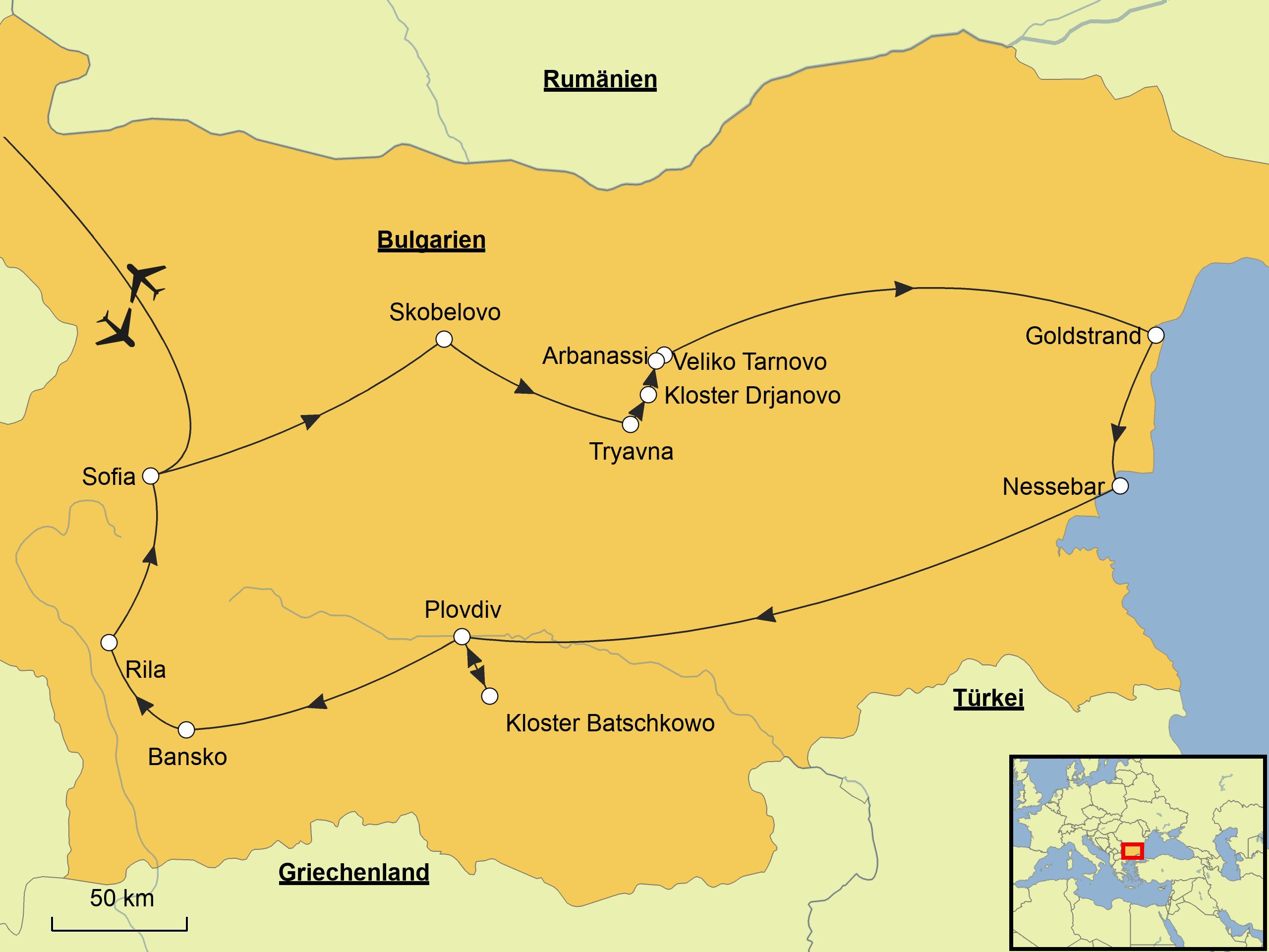 Bulgarien Karte Deutsch.Bulgarien Srd Reisen