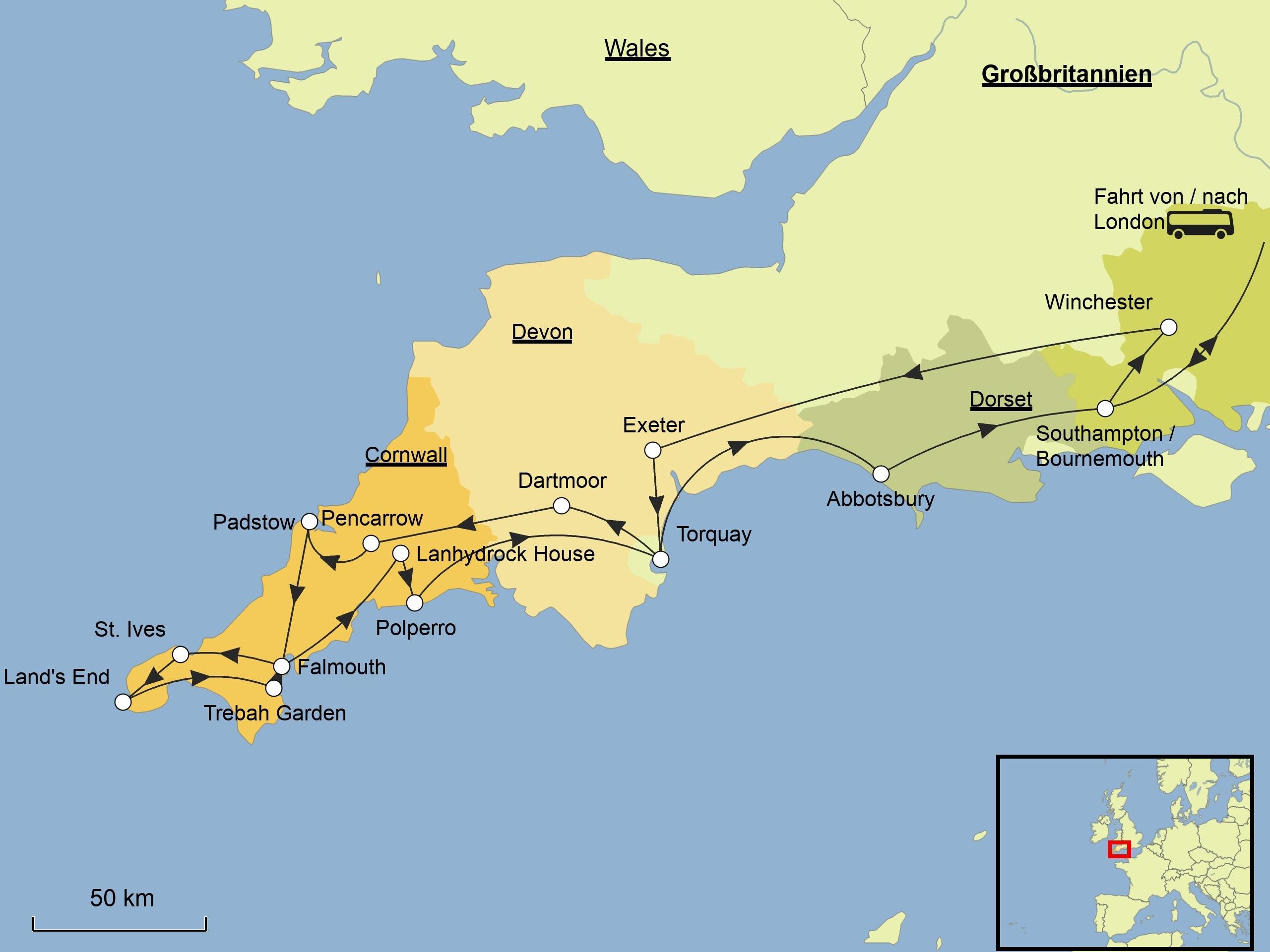 Cornwall Mehr Srd Reisen