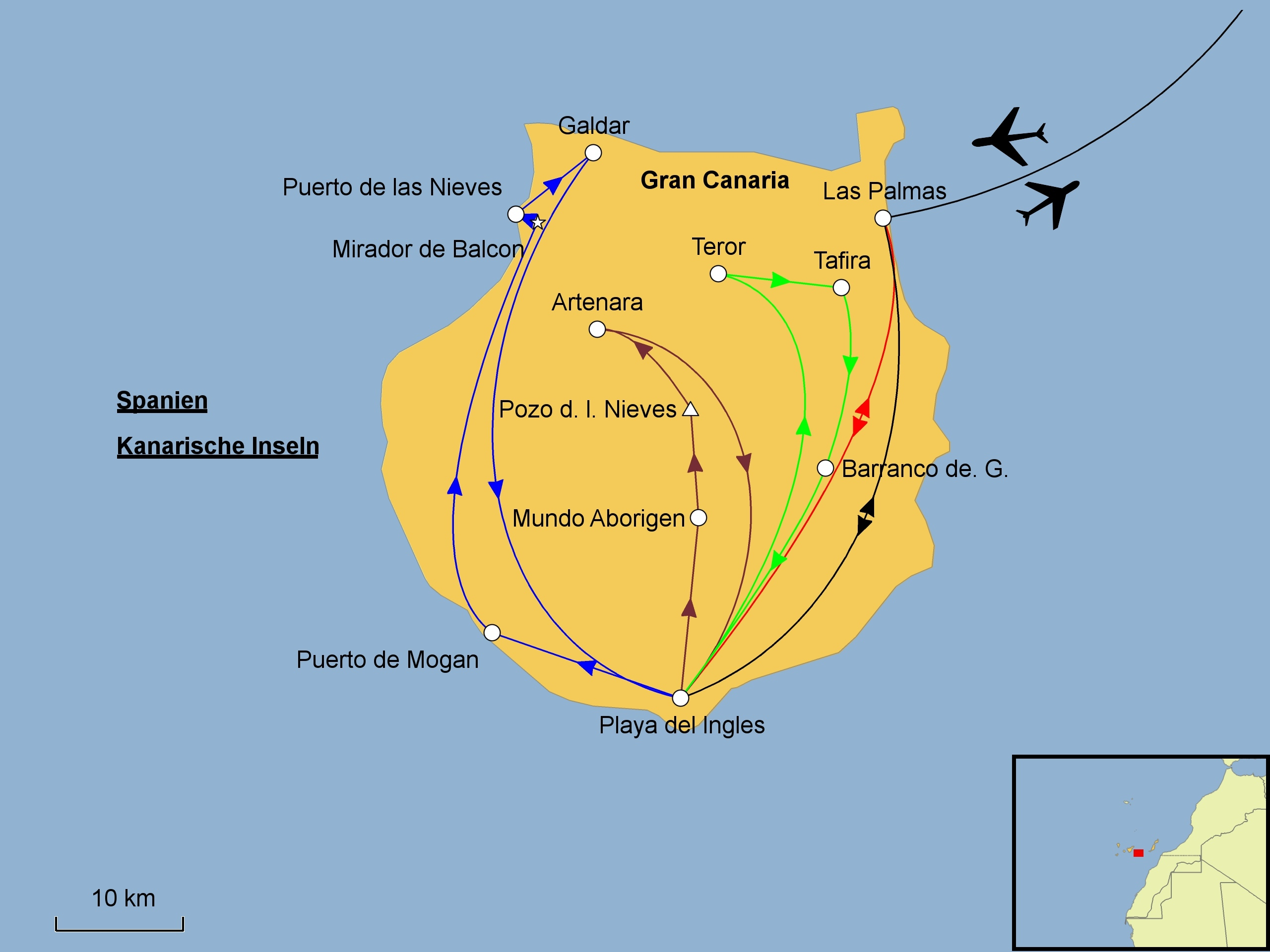 Gran Canaria Karte Flughafen.Gran Canaria Srd Reisen