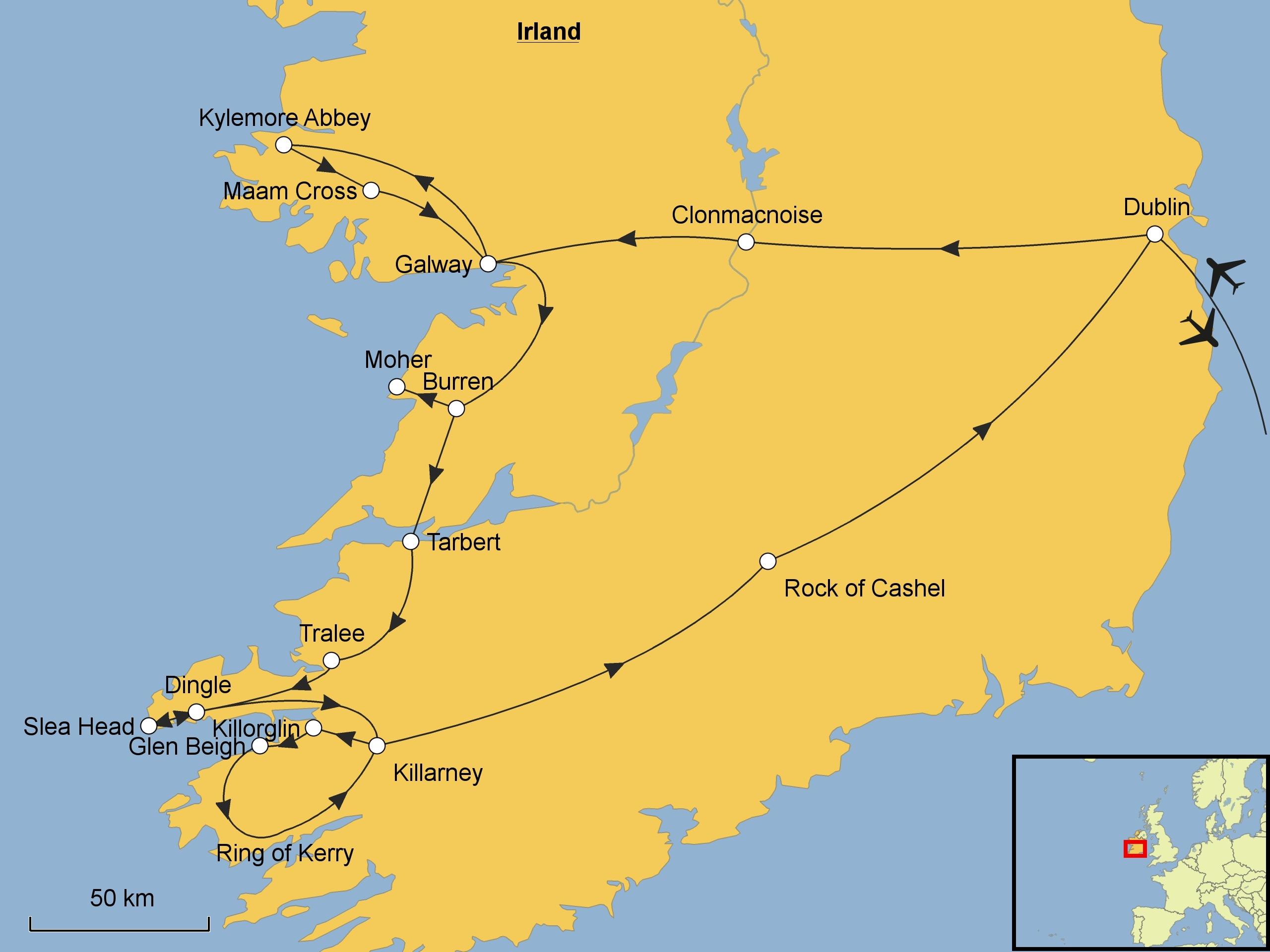 Irland Karte Pdf.Irland Srd Reisen
