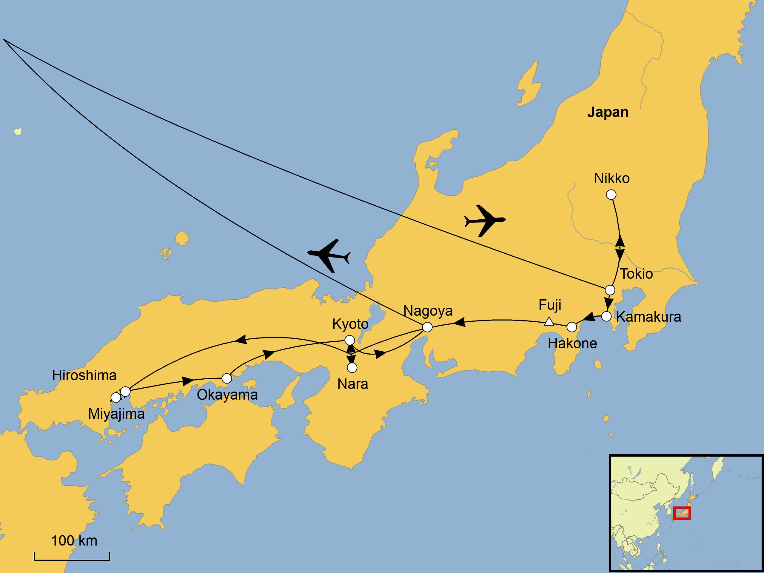 Japan rundreise 2020