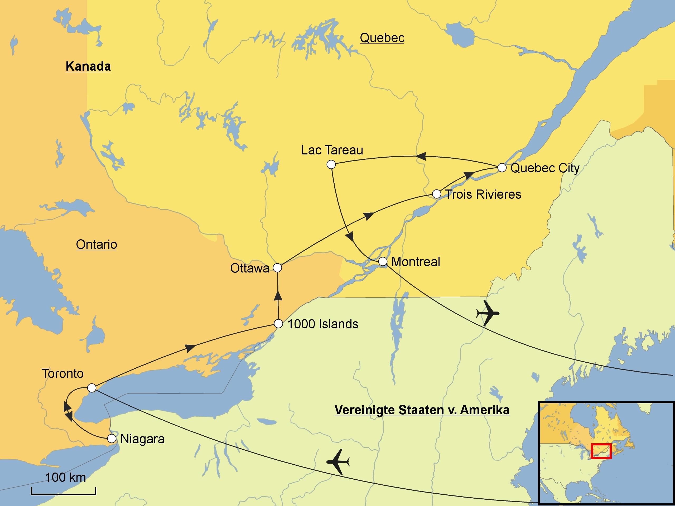 Montreal Altstadt Karte.Kanadas Osten Srd Reisen
