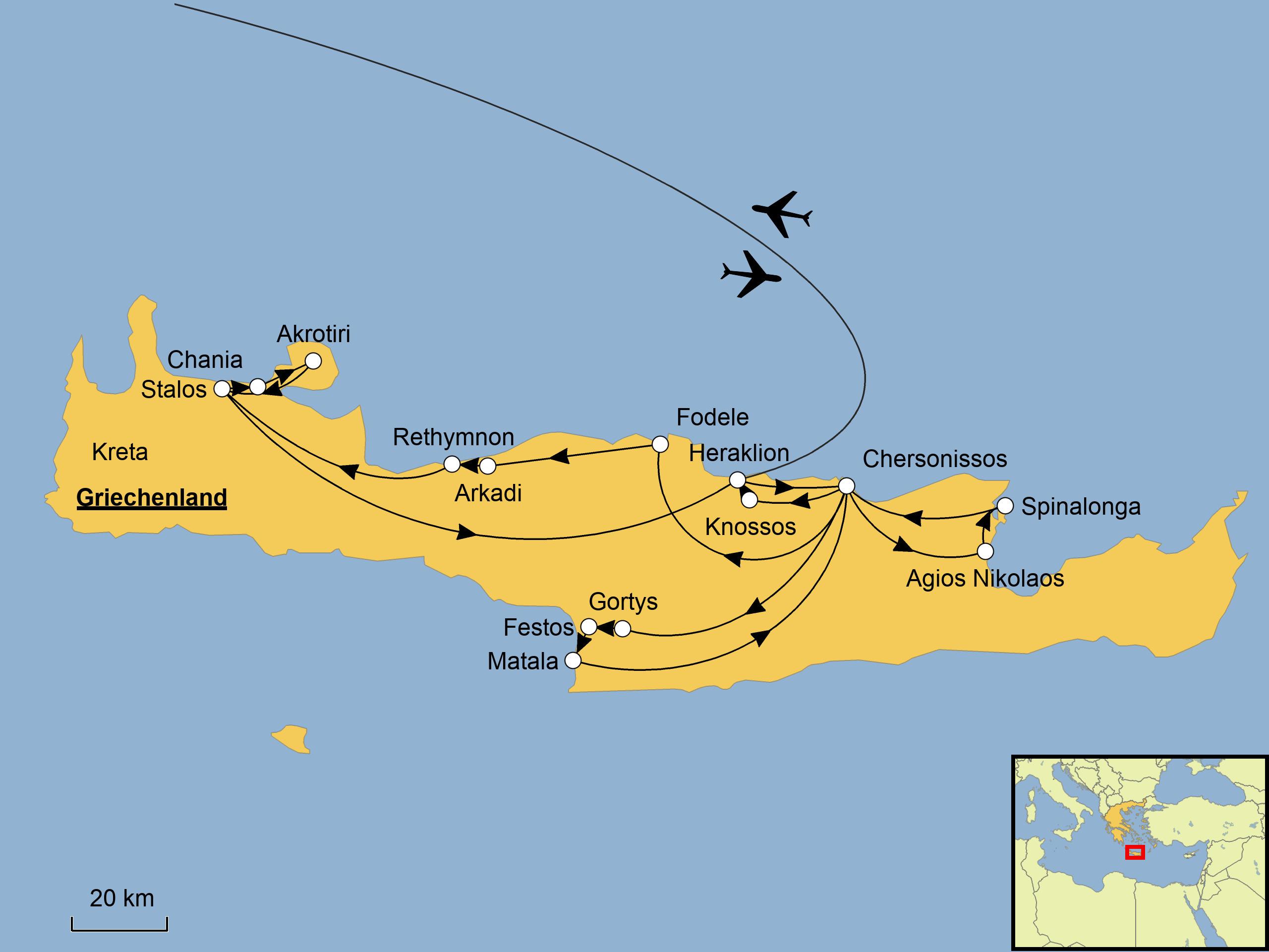 Griechenland Karte Kreta.Kreta