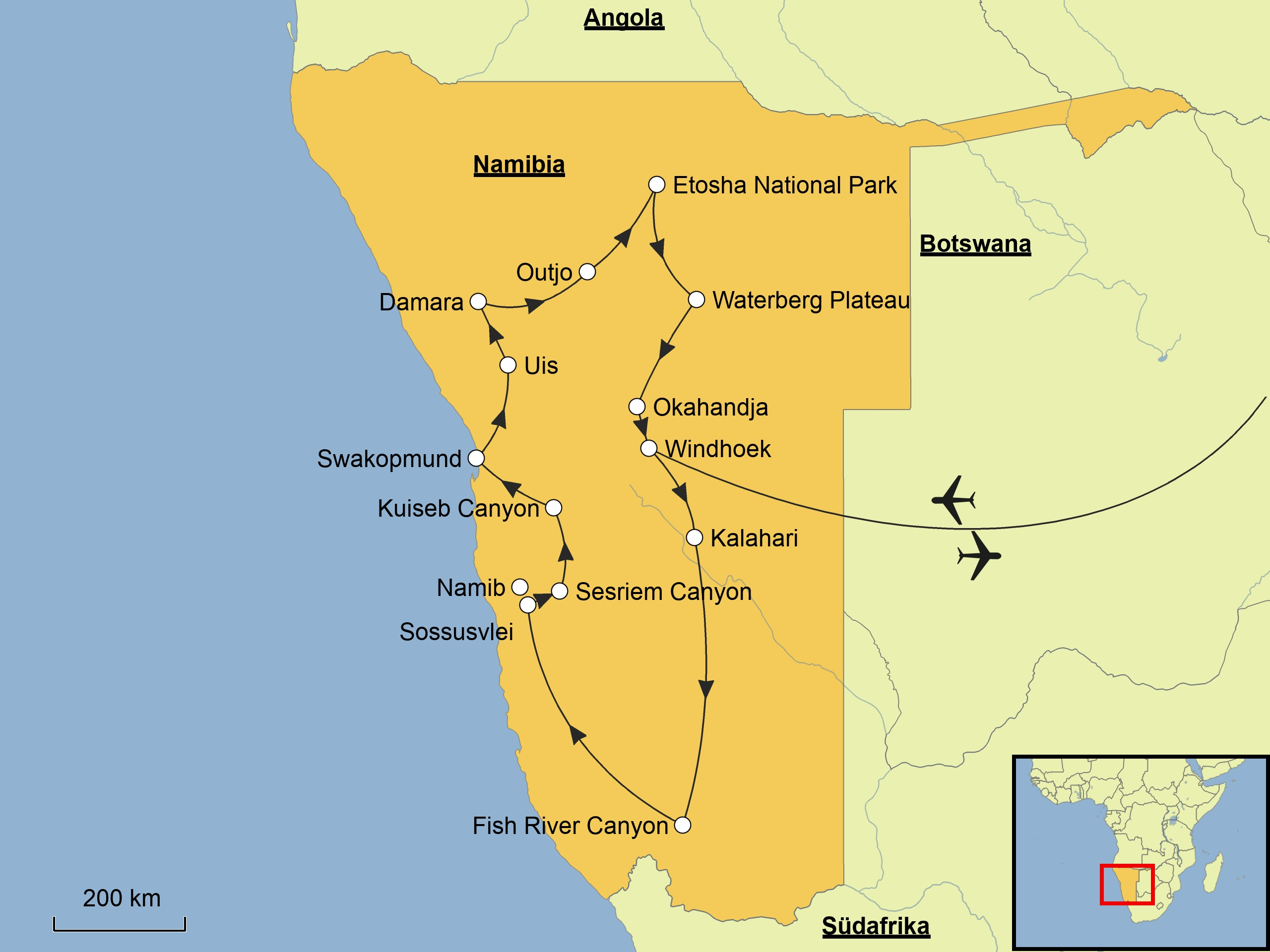 Liportal Namibia Landesubersicht Naturraum Das