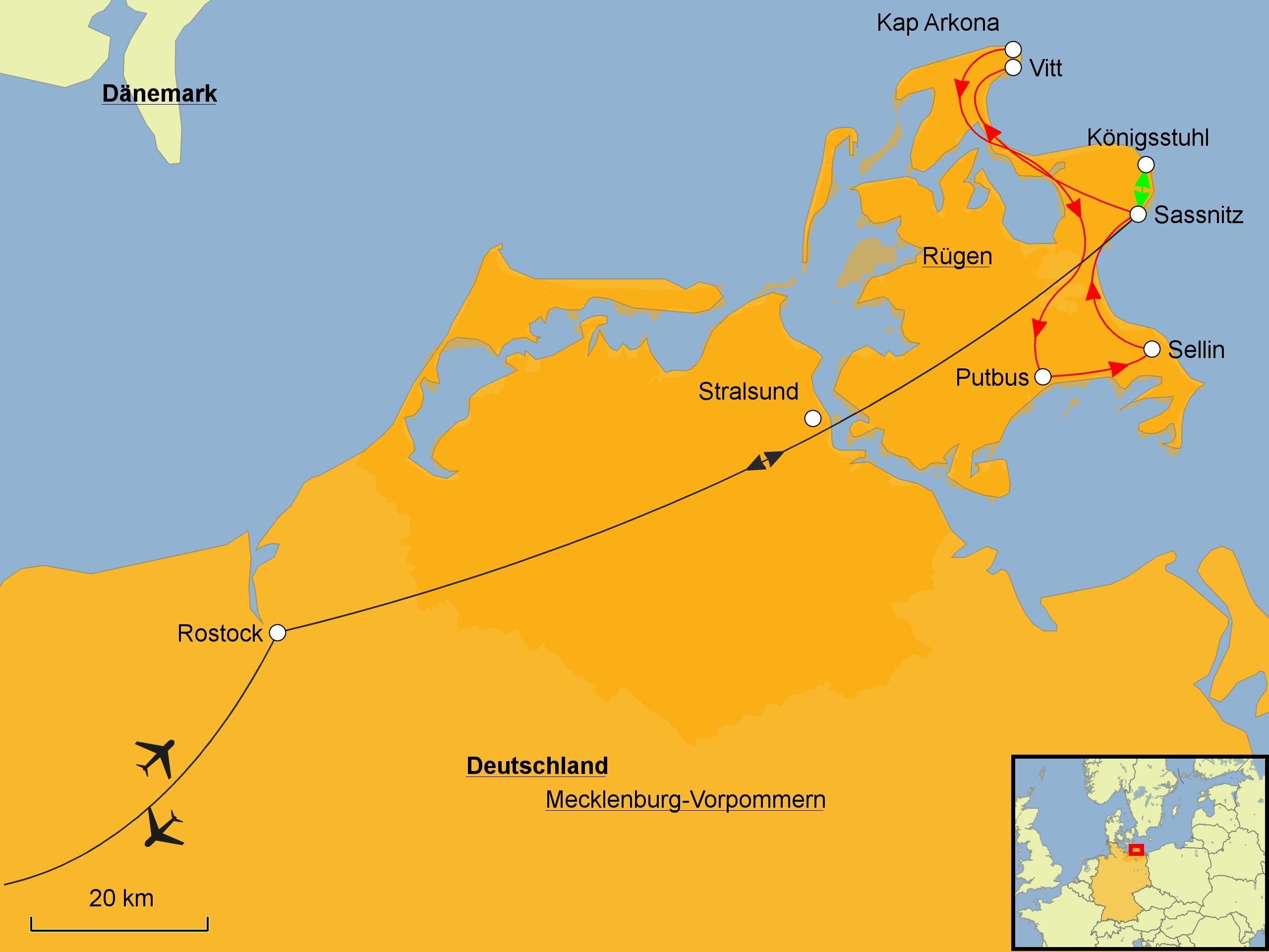 Rügen Karte.Rügen Erholen Mehr Srd Reisen