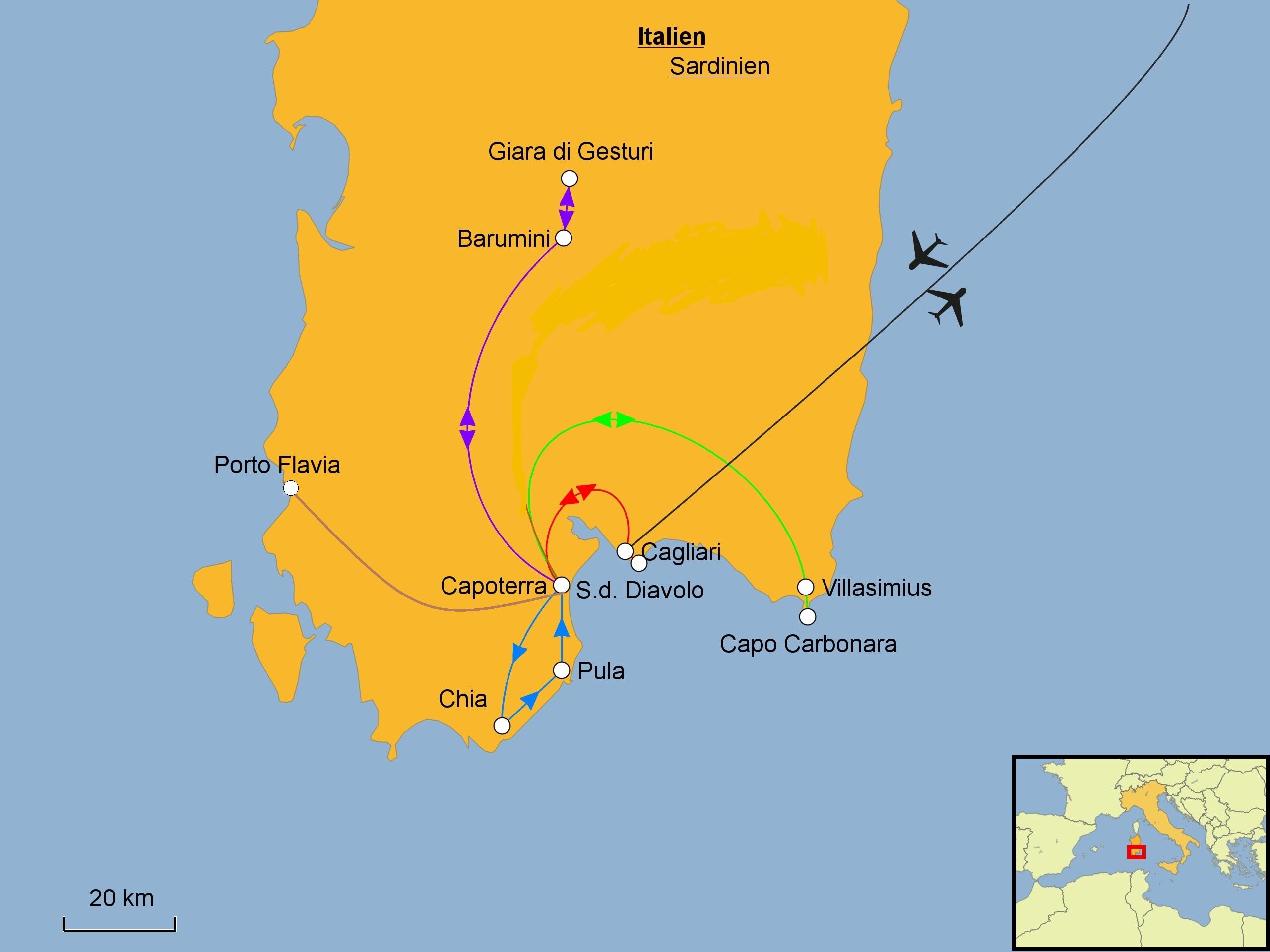 Sardiniens Suden Wandern Srd Reisen