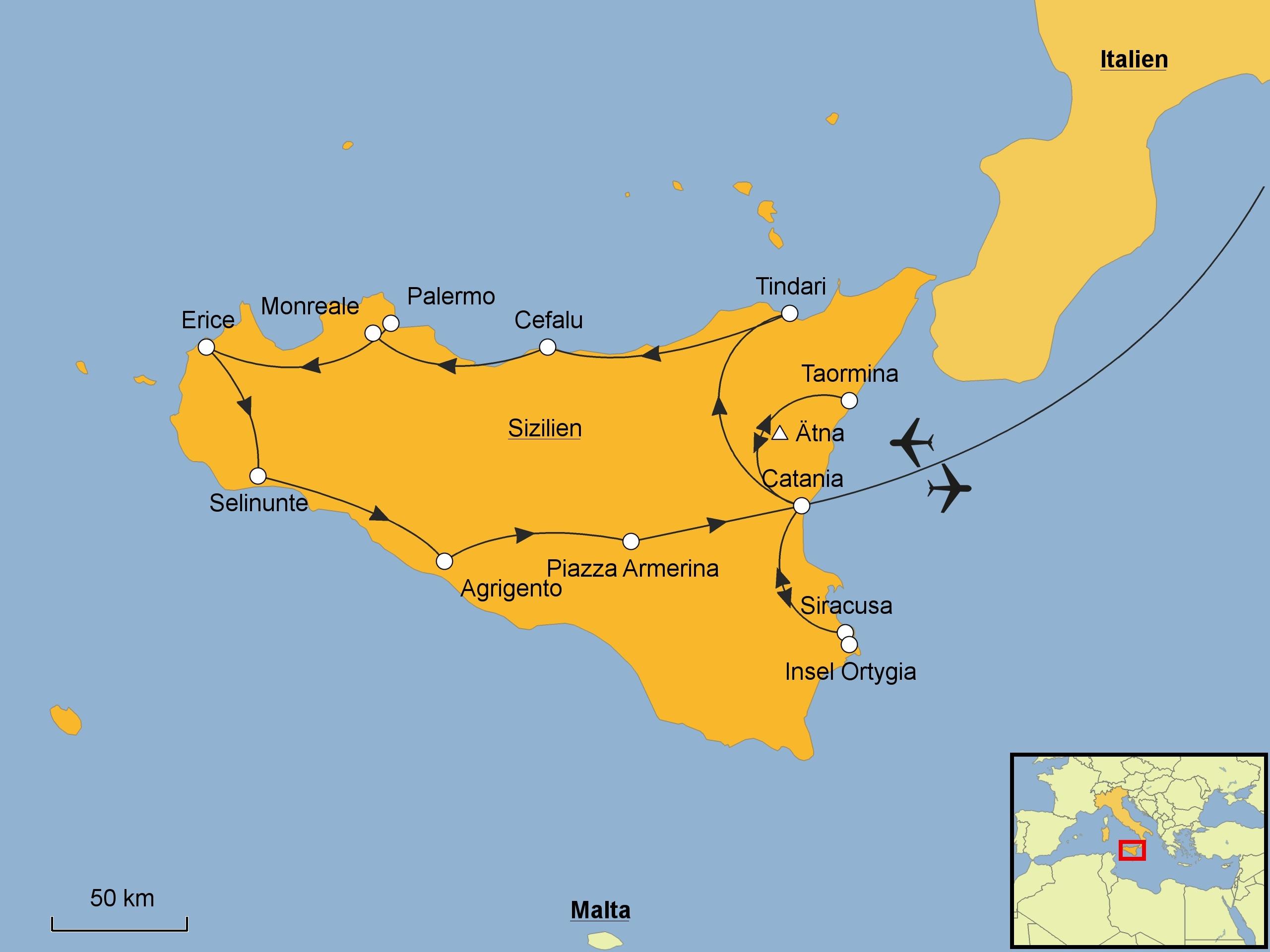 Sizilien Rundreise Srd Reisen