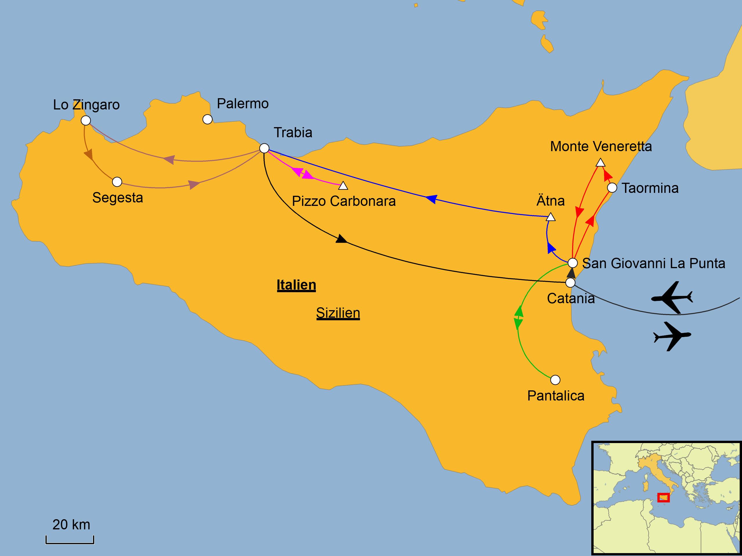 Sizilien Wandern Srd Reisen