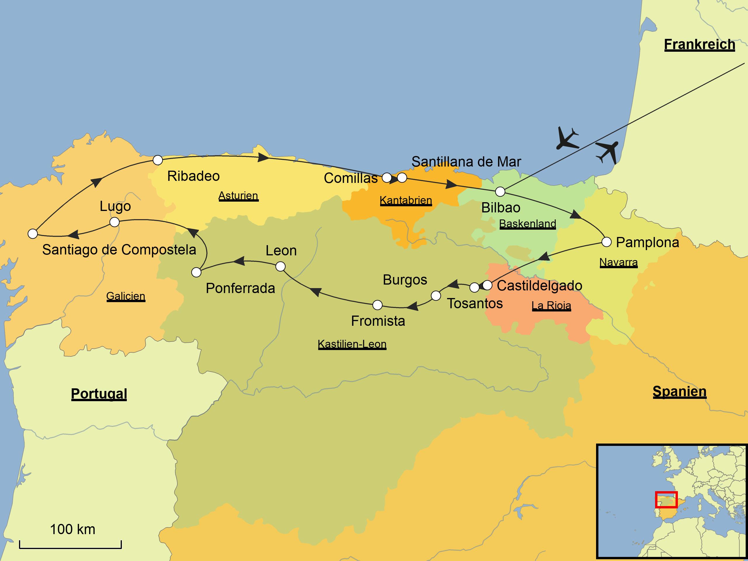 Spaniens Norden Wandern Srd Reisen