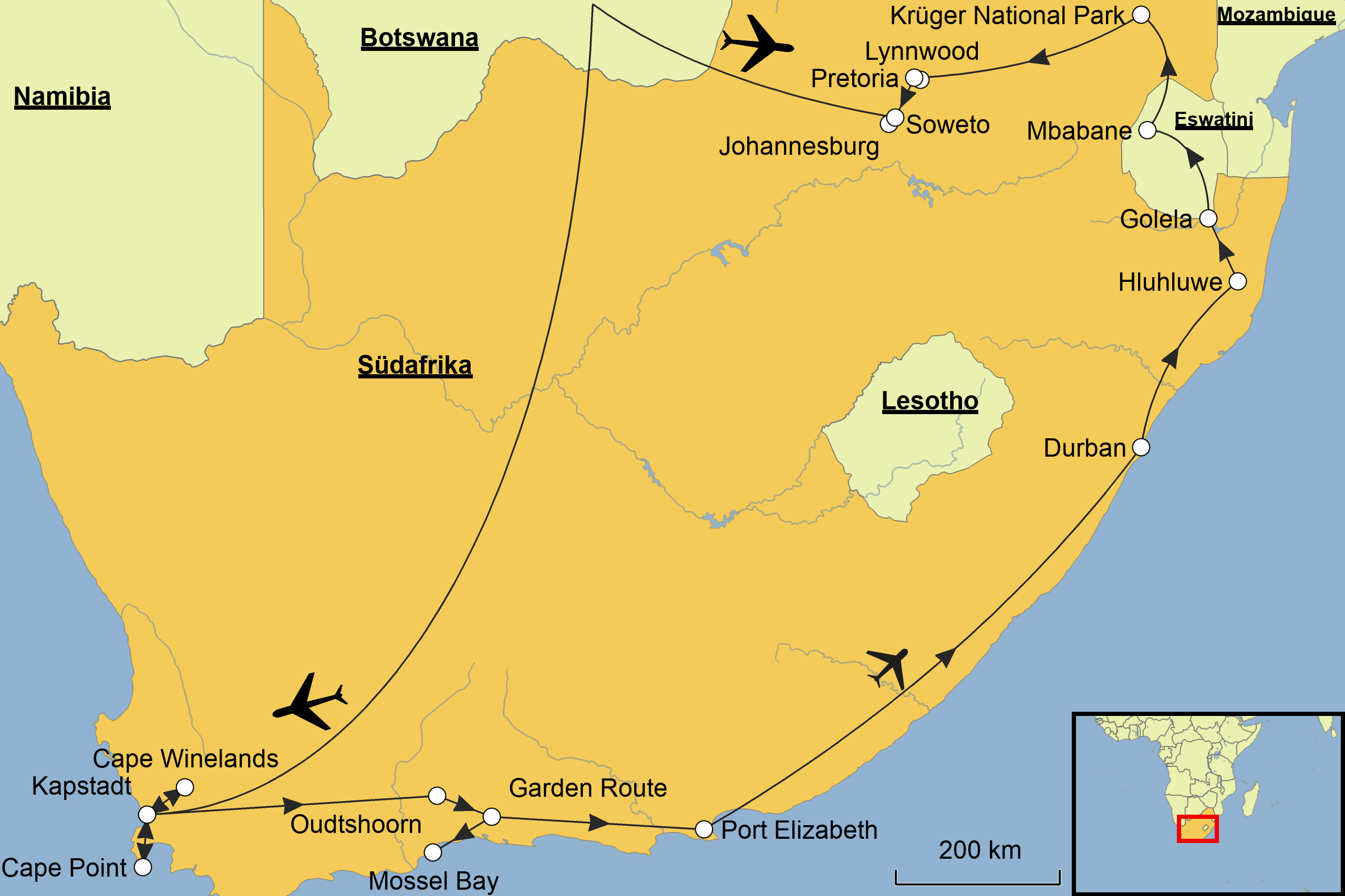 Südafrika Karte.Südafrika Srd Reisen