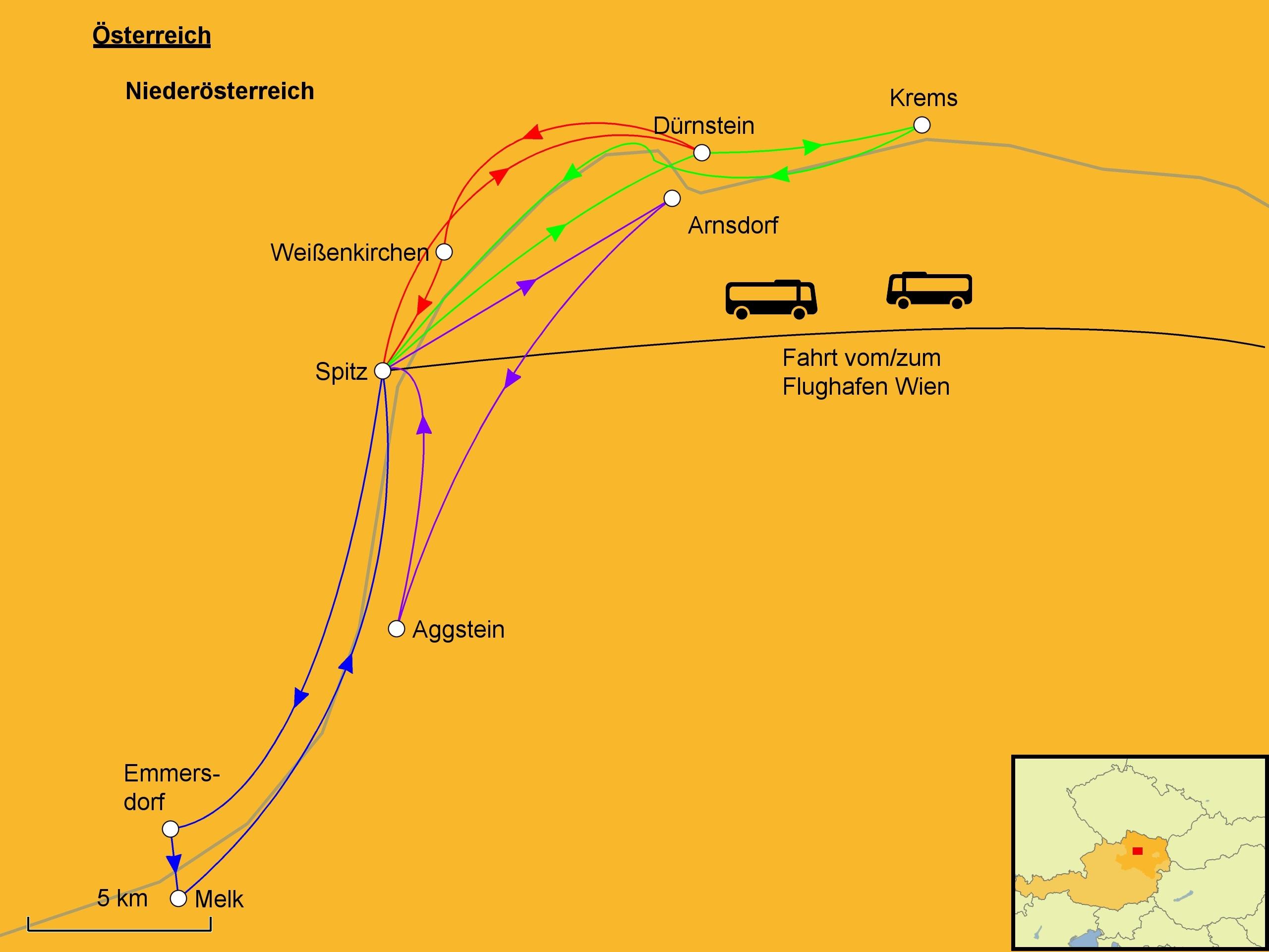 Wachau Karte Donau.Wachau Wandern Srd Reisen