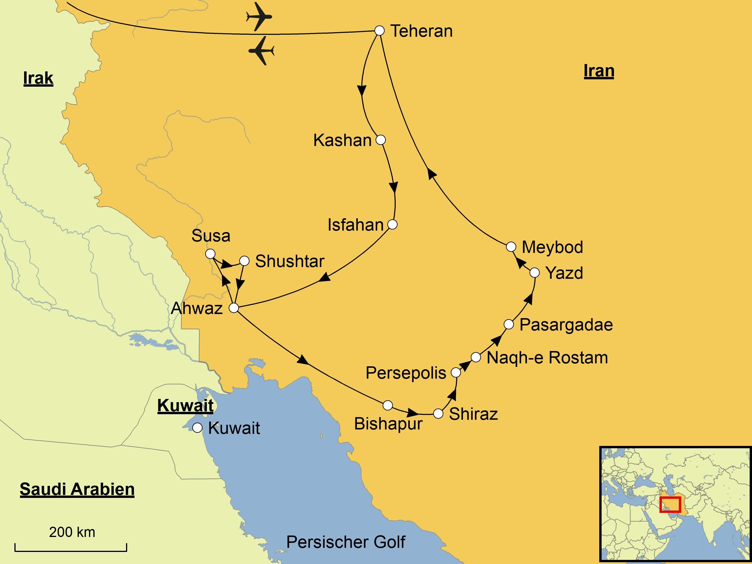 Iran Karte Deutsch.Iran Srd Reisen