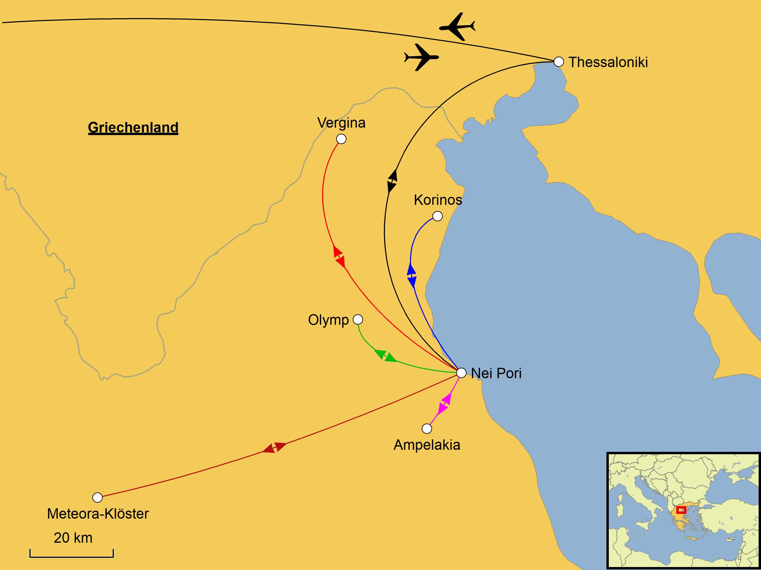 Meteora Klöster Karte.Pieria Mit Wanderungen Srd Reisen