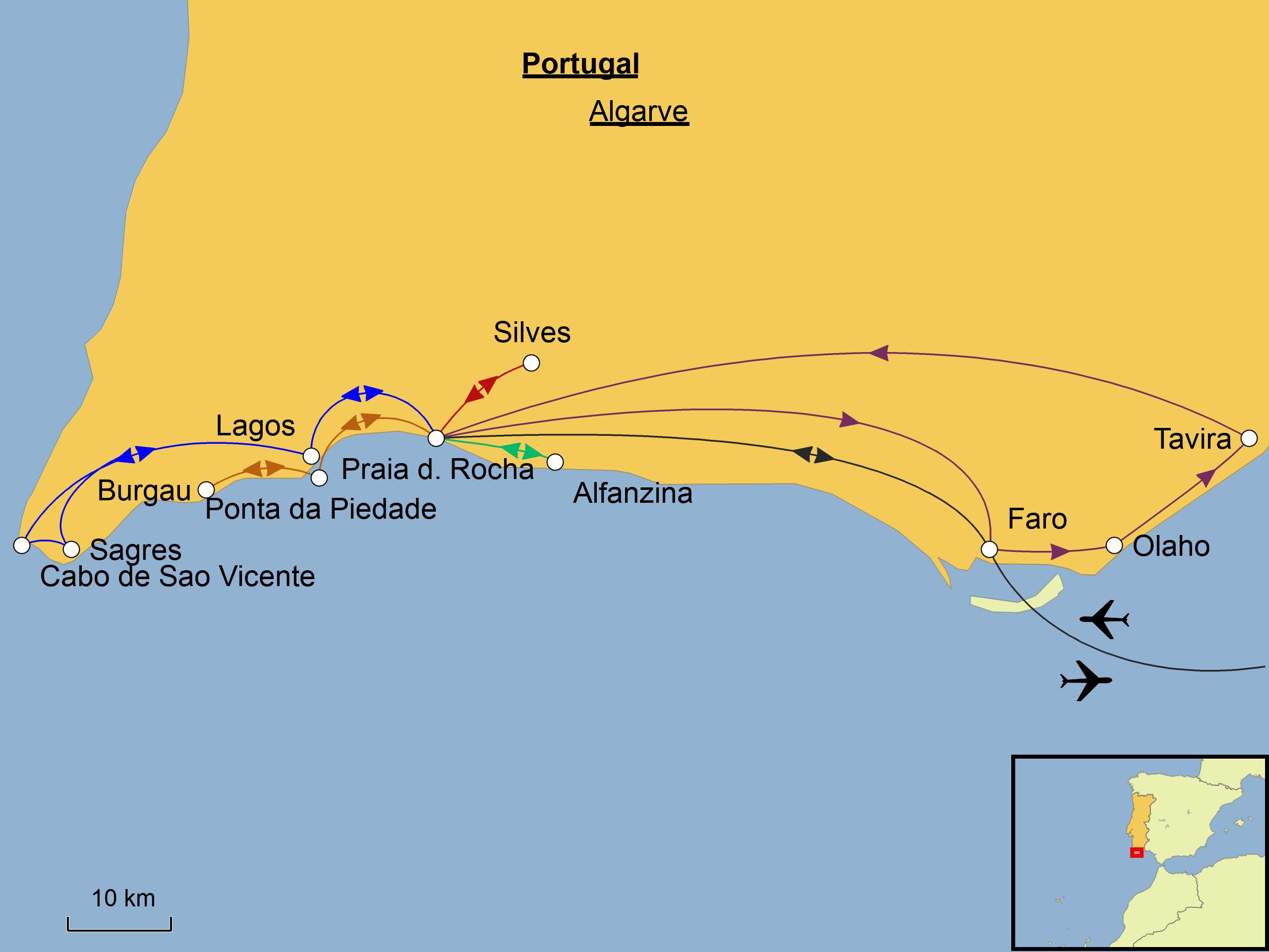 Flughafen Algarve Karte.Algarve